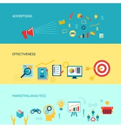 Marketers banners set vector image