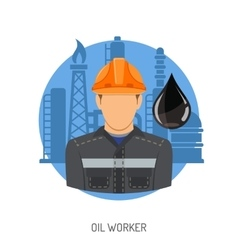 Oil Worker Concept vector image vector image