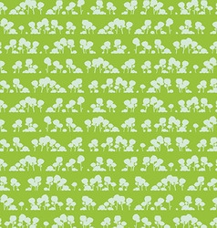 Seamless pattern with cartoon trees vector image
