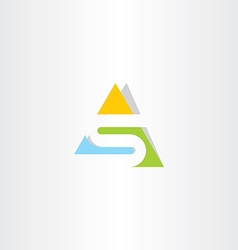 triangle logo letter s logotype vector image vector image