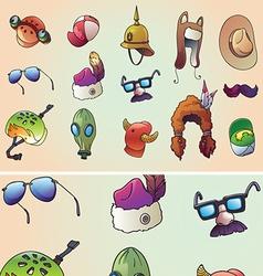 Original Headwear Set vector image vector image
