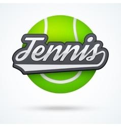 Premium Tennis label vector image vector image