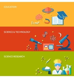 Science and research banner vector image vector image