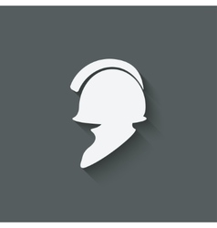 antique helmet symbol vector image