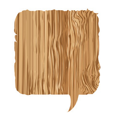 box wood chat bubble icon vector image vector image