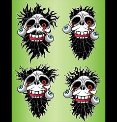 halloween scary skull with eyes coming out design vector image
