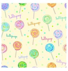 Lollipop pattern vector