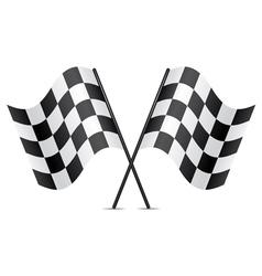 racing flags vector image