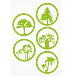 trees - set vector image