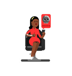 black woman personal information vector image