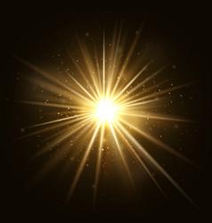 gold star burst golden light explosion isolated vector image vector image