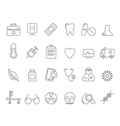 Health Care and hospital icons vector image
