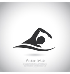 Swimming represents active people sport vector image vector image