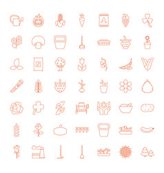 49 plant icons vector image