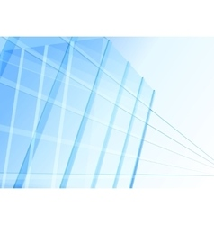 abstract building from lines vector image