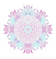 Abstract Hand-drawn Mandala-08 vector