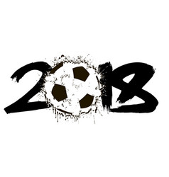 abstract number 2018 and soccer ball vector image