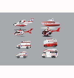 ambulance set vector image