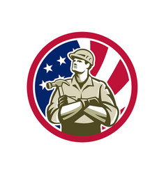 american carpenter usa flag icon vector image