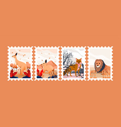 animal for postage stamps vector image