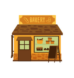 bakery shop building facade or storefront flat vector image