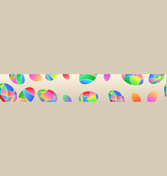 banner of colored easter eggs vector image