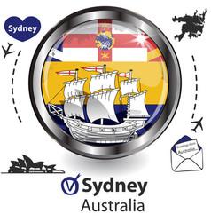Card with sydney australia vector