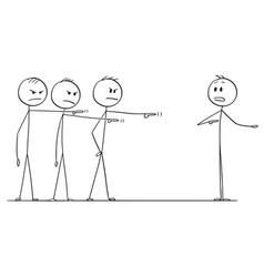 Cartoon of team of businessmen or coworkers vector