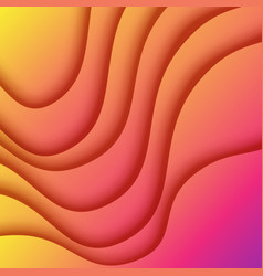 colorful fluid gradient paper cut abstract vector image