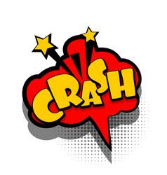 Comic book text bubble advertising crash vector