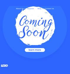 Coming soon banner website design vector