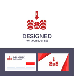 creative business card and logo template coins vector image