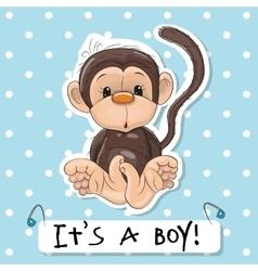 Cute Monkey boy vector