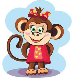 Cute Monkey Girl vector image