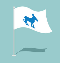 democrat donkey flag national flag of vector image