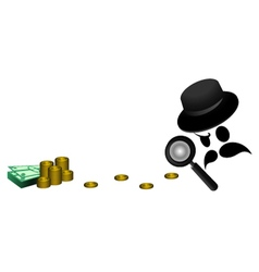Detective search money vector