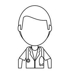 Doctor medical stethoscope thin lin vector