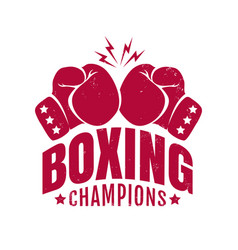 emblem for boxing champions vector image