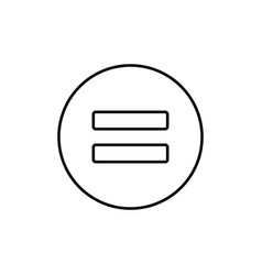 equality icon vector image