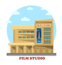 Film or movie studio building facade vector