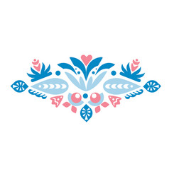 geometry folk beautiful flower line decoration vector image
