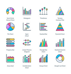 graph and diagram vector image