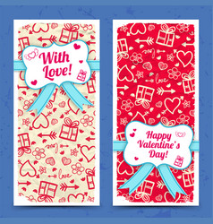Greeting vertical banners vector