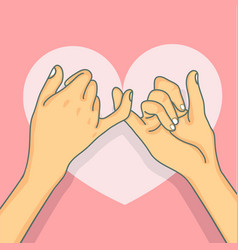 hand drawn pinky promise vector image