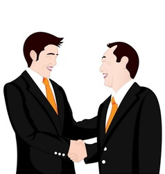 hand shake business on white background vector image