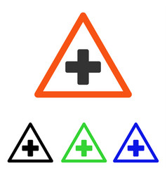 Health warning triangle flat icon vector