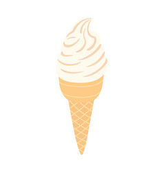 ice cream in a waffle cone vector image