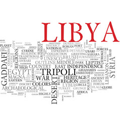 Libya word cloud concept vector
