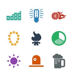 Light icons vector