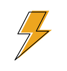 lightning bolt weather storm energy vector image